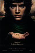 "Movie Posters:Fantasy, The Lord of the Rings: The Fellowship of the Ring (New Line, 2001). Rolled, Very Fine/Near Mint. One Sheet (27"" X 40"") SS Ad..."
