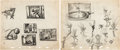 Animation Art:Concept Art, Peter Pan Thumbnail Concept Sketches Original Art Group of 5 (Walt Disney, 1953).... (Total: 5 Original Art)