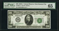 Fr. 2051-J $20 1928A Federal Reserve Note. PMG Gem Uncirculated 65