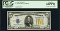 Fr. 2307 $5 1934A North Africa Silver Certificate. PCGS Gem New 66PPQ