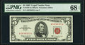 Fr. 1536 $5 1963 Legal Tender Note. PMG Superb Gem Unc 68 EPQ
