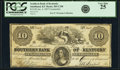 Smithland, KY- Southern Bank of Kentucky $10 Jan. 4, 1857 C298 Counterfeit PCGS Very Fine 25