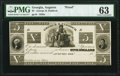 Obsoletes By State:Georgia, Augusta, GA- George H. Paddock $5 18__ UNL Proof PMG Choice Uncirculated 63.. ...