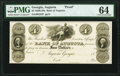 Augusta, GA- Bank of Augusta $4 18__ G54 Proof PMG Choice Uncirculated 64