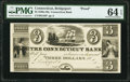 Obsoletes By State:Connecticut, Bridgeport, CT- Connecticut Bank $3 18__ G44 Proof PMG Choice Uncirculated 64 EPQ.. ...