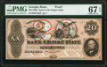 Rome, GA- Bank of the Empire State $20 18__ as G10a Proof PMG Superb Gem Unc 67 EPQ