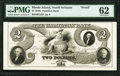 North Scituate, RI- Hamilton Bank $2 18__ as G22 as Durand 2129 PMG Uncirculated 62