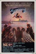 "Movie Posters:Action, Superman II (Warner Bros., 1981). Folded, Very Fine. One Sheet (27"" X 41""). Action.. ..."
