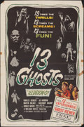 """Movie Posters:Horror, 13 Ghosts (Columbia, 1960). Folded, Fine+. One Sheet (27"""" X 41""""). Horror.. ..."""