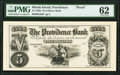Providence, RI- Providence Bank $5 185_ G64 as Durand 1864 Proof PMG Uncirculated 62