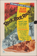 """Movie Posters:Rock and Roll, Rock, Rock, Rock (DCA, 1956). Folded, Fine. One Sheet (27"""" X 41""""). Rock and Roll.. ..."""