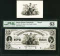 Wakefield, RI- Bank of South County $5 18__ as G8 as Durand 2259 Proof PMG Choice Uncirculated 63. ... (Total: 2)