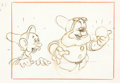 Animation Art:Concept Art, Snow White and the Seven Dwarfs Doc and Dopey Layout Drawing (Walt Disney, 1937). ...