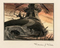 Animation Art:Concept Art, The Old Mill Layout Painting by Maurice Noble Original Art (Walt Disney, 1937). ...