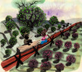 Animation Art:Concept Art, Mary Blair Song of the South Plein Air Concept Painting (Walt Disney, 1946). ...
