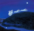 Animation Art:Concept Art, Mary Blair Cinderella Concept Painting (Walt Disney, 1950)....