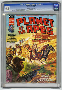 Planet of the Apes #6 (Marvel, 1975) CGC NM 9.4 Off-white to white pages. Bob Larkin cover. Mike Ploog and George Tuska...