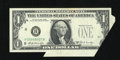 Error Notes:Foldovers, Fr. 1905-H $1 1969B Federal Reserve Note Extremely Fine.. The rightserial number and part of the Treasury Seal is printed o...