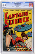 """Golden Age (1938-1955):Science Fiction, Captain Science #3 Davis Crippen (""""D"""" Copy) pedigree (Youthful Magazines, 1951) CGC VF+ 8.5 Cream to off-white pages...."""