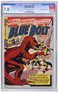 "Golden Age (1938-1955):Science Fiction, Blue Bolt #107 Davis Crippen (""D"" Copy) pedigree (StarPublications, 1950) CGC FN/VF 7.0 Off-white to white pages...."