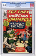 Silver Age (1956-1969):War, Sgt. Fury and His Howling Commandos #6 (Marvel, 1964) CGC VF/NM 9.0 Off-white to white pages....