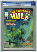 Magazines:Superhero, The Rampaging Hulk #7 (Marvel, 1978) CGC NM+ 9.6 White pages.Man-Thing story. Jim Starlin cover. Starlin and Ernie Chan fro...