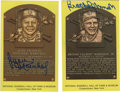 Autographs:Post Cards, Brooks Robinson and Juan Marichal Signed Gold Hall of Fame PlaquesLot of 2. Each of the Hall of Famers seen here has provi...