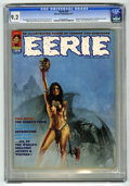 Bronze Age (1970-1979):Horror, Eerie #35 (Warren, 1971) CGC NM- 9.2 (No paper quality indicated byCGC). Doug Moench and Gardner Fox stories. Enrich cover....