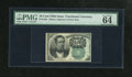 Fractional Currency:Fifth Issue, Fr. 1264 10c Fifth Issue PMG Choice Uncirculated 64EPQ. A fresh andwell margined example of this much scarcer green seal Me...