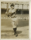 Baseball Collectibles:Photos, Circa 1918 Dave Bancroft Service Photo. Counted among the finest switch hitters and shortstops of his day, Hall of Fame Phi...