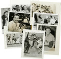 Baseball Collectibles:Photos, 1956-57 Baseball Stars Service Photos Lot of 17. All of the most revered stars of the era are accounted for with this treme...