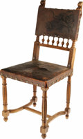 """Movie/TV Memorabilia:Props, Wolf-Head Carved Chair from Universal Studios """"Even a man who is pure in heart, and says his prayers by night..."""" would find..."""