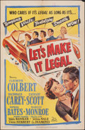 """Movie Posters:Comedy, Let's Make It Legal (20th Century Fox, 1951). Folded, Fine/Very Fine. One Sheet (27"""" X 41""""). Comedy.. ..."""