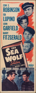 "Movie Posters:Adventure, The Sea Wolf (Warner Bros., 1941). Folded, Fine+. Insert (14"" X 36""). Adventure.. ..."