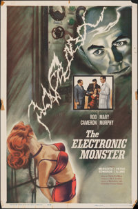 "The Electronic Monster (Columbia, 1960). Folded, Fine+. One Sheet (27"" X 41""). Science Fiction"