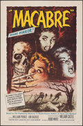 "Movie Posters:Horror, Macabre (Allied Artists, 1958). Folded, Fine/Very Fine. One Sheet (27"" X 41""). Roy Besser Artwork. Horror.. ..."