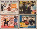 "Movie Posters:Musical, Daddy Long Legs & Other Lot (20th Century Fox, 1955). Fine/Very Fine. Title Lobby Cards (2) & Lobby Cards (2) (11"" X 14""). M... (Total: 4 Items)"