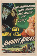 "Movie Posters:Crime, Johnny Angel (RKO, 1945). Folded, Very Fine-. One Sheet (27"" X 41""). Crime.. ..."