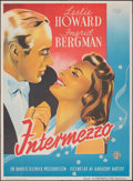 "Movie Posters:Romance, Intermezzo (Constantin Films, 1939). Folded, Very Fine-. Danish Poster (24.5"" X 33.5"") Benny Stilling Artwork. Romance.. ..."