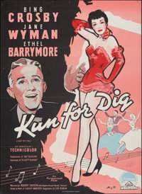 """Just for You (Paramount, 1953). Folded, Very Fine-. Danish Poster (24.25"""" X 33.25""""). Benny Stilling Artwork. M..."""