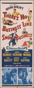 """Movie Posters:Musical, There's No Business Like Show Business (20th Century Fox, 1954). Folded, Fine/Very Fine. Insert (14"""" X 36""""). Musical.. ..."""