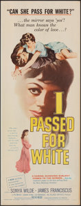 "Movie Posters:Exploitation, I Passed for White (Allied Artists, 1960). Rolled, Very Fine-. Insert (14"" X 36""). Exploitation.. ..."