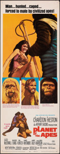 "Movie Posters:Science Fiction, Planet of the Apes (20th Century Fox, 1968). Rolled, Fine/Very Fine. Insert (14"" X 36""). Science Fiction.. ..."