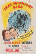 """Movie Posters:Musical, That Midnight Kiss & Other Lot (MGM, 1949). Folded, Overall: Fine/Very Fine. One Sheets (2) (27"""" X 41""""). Musical.. ... (Total: 2 Items)"""