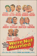 """Movie Posters:Comedy, We're Not Married (20th Century Fox, 1952). Folded, Fine+. One Sheet (27"""" X 41""""). Comedy.. ..."""