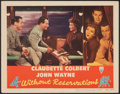"Movie Posters:Comedy, Without Reservations (RKO, 1946). Fine/Very Fine. Lobby Card (11"" X 14""). Comedy.. ..."