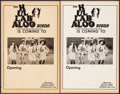 """Movie Posters:Rock and Roll, Hullabaloo Scene & Other Lot (Hullabaloo, 1967).Overall Grade: Fine. Club Window Cards (2) (14"""" X 22"""") & Concert Window Card... (Total: 3 Items)"""