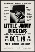 Movie Posters:Musical, Little Jimmy Dickens at the Salem Armory Auditorium & Other Lot (Radio KGAY and EJD Enterprises, 1968). Overall Grade: Fine.... (Total: 2 Items)