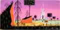 Animation Art:Concept Art, Eyvind Earle Sleeping Beauty Concept/Color Key Background Painting (Walt Disney, 1959). ...