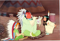 Animation Art:Production Cel, Peter Pan Peter, Big Chief, and Tiger Lily Production Cel (Walt Disney, 1953). ...